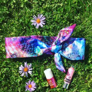 Luxusná saténová šatka do vlasov ROSES by Sissque