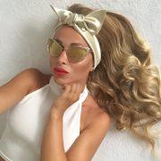 Saténová šatka do vlasov PLATINUM by Sissque