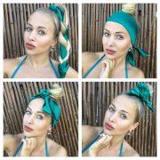 Saténová šatka do vlasov OH SO GREEN by Sissque