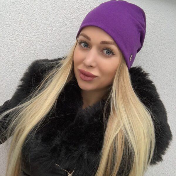 Fialová imidžová čiapka by Sissque
