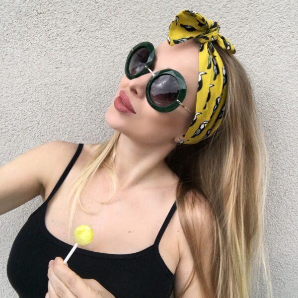 Látková imidžová šatka do vlasov TOUCAN by Sissque