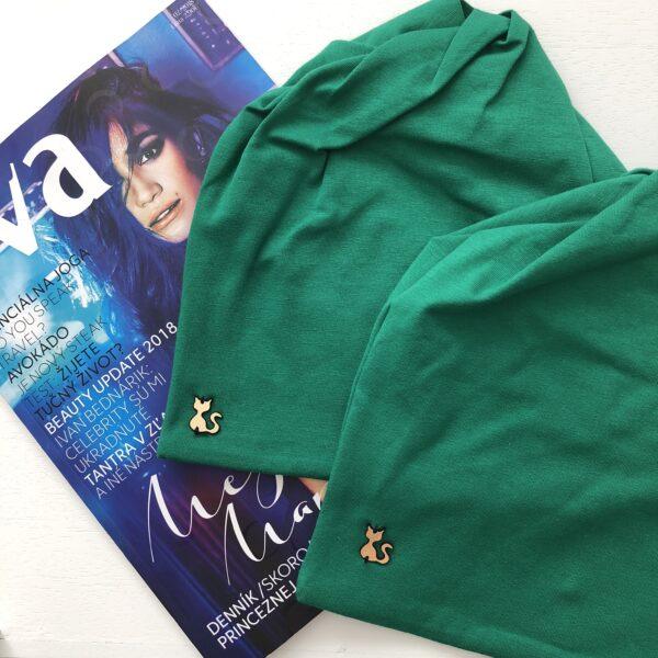 Výrazná zelená imidžová čiapka by Sissque